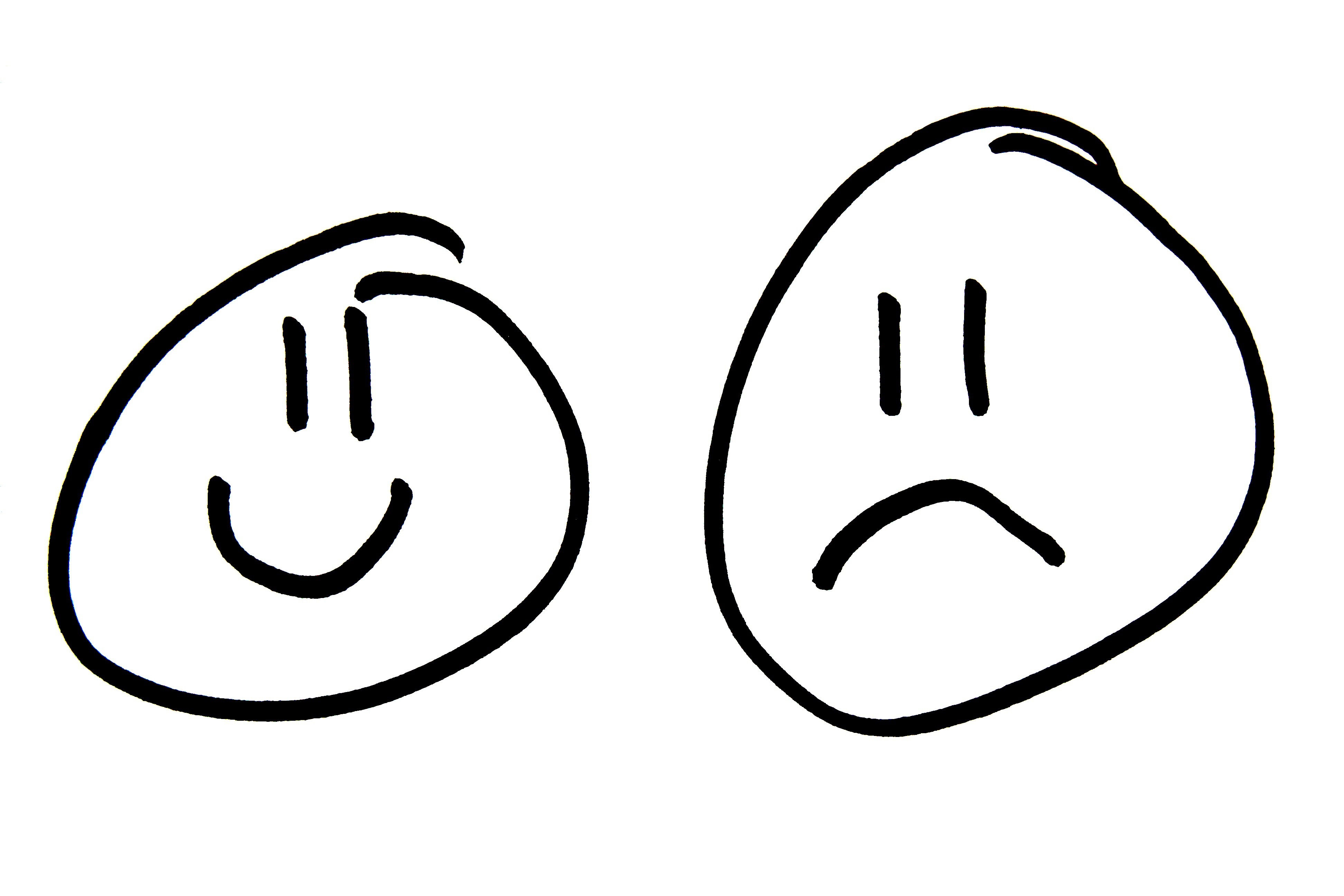 Sad face smiley face clipart black and white free clipart