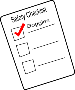 Safety checklist clipart