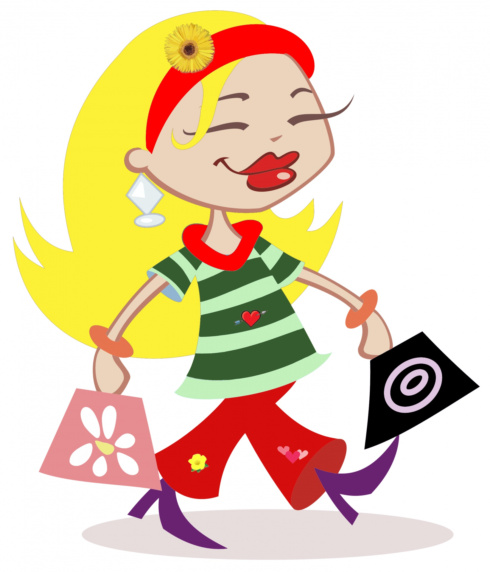 Shopping woman clipart free stock photo public domain pictures