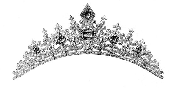 Tiaras and crowns clip art illustrations objects tiara es