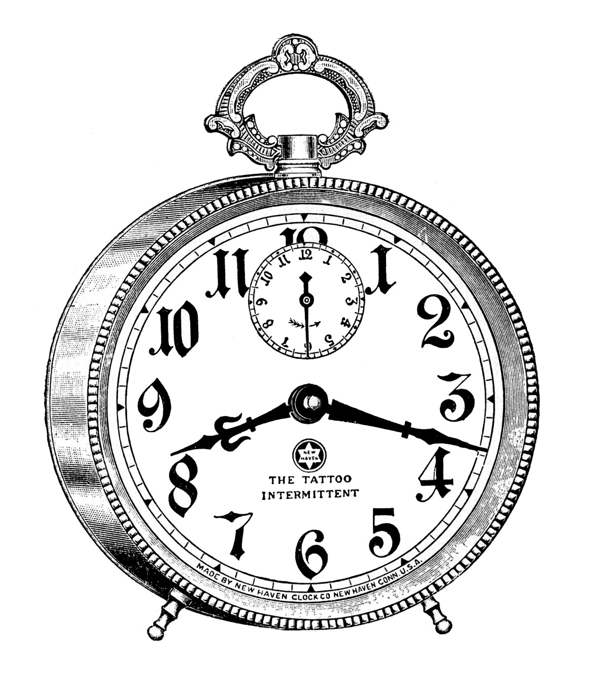 Vintage clip art fancy alarm clock steampunk the graphics fairy