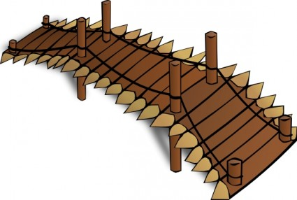 Wooden bridge clip art free vector in open office drawing svg