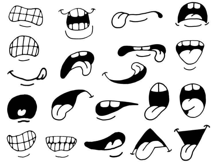 Cartoon eyes and mouth clipart