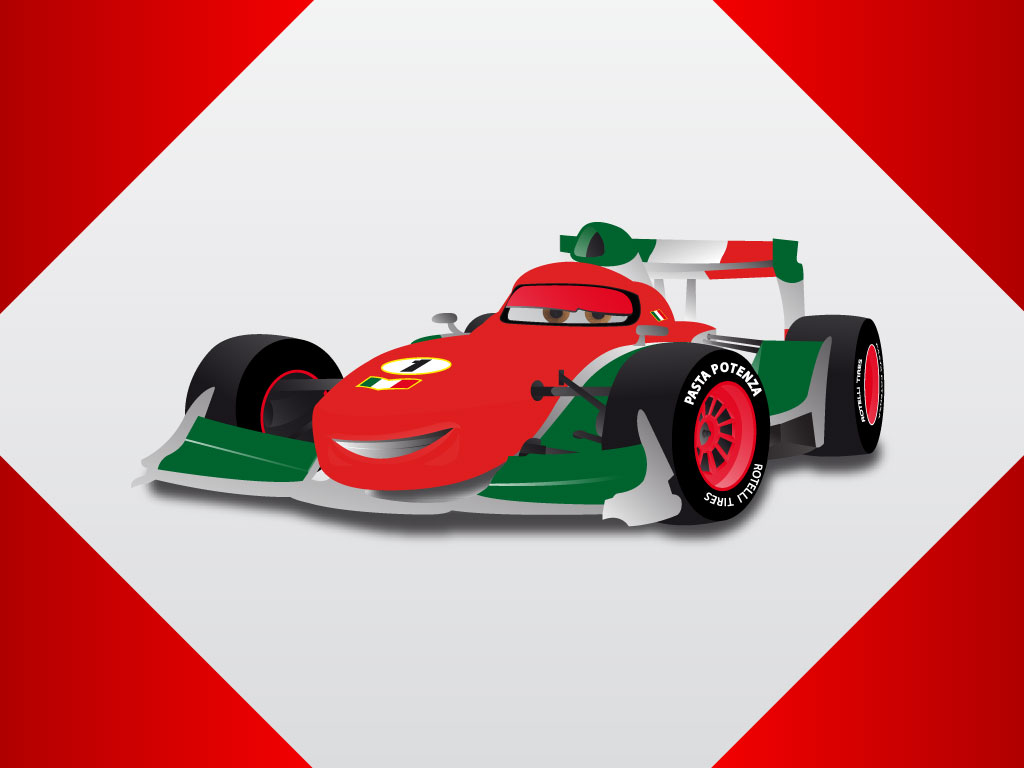 Cartoon race cars clipart