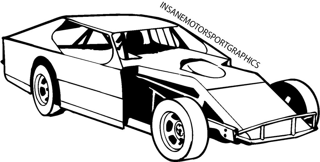 Dirt race car clipart