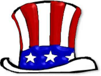 Free patriotic clipart picture of red white and blue uncle sam hat