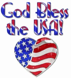 God bless the usa patriotic clipart