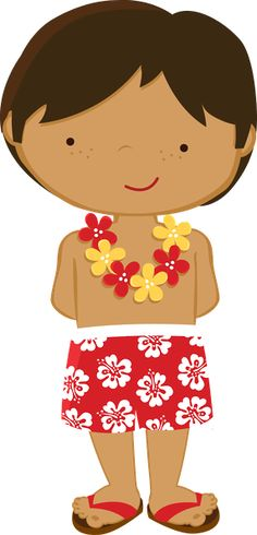 Hawaiian boy clipart