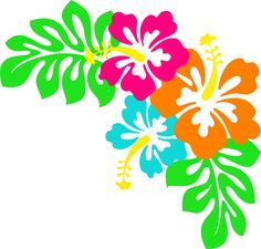 Hawaiian flower clip art tropical plants clip art vector clip