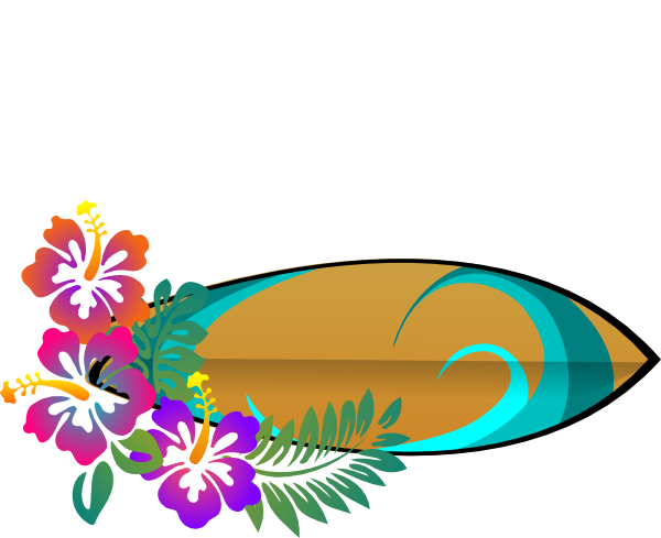 Hawaiian luau tiki flowers clipart clipart kid 7
