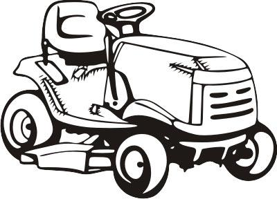 Lawn mower pink riding mower clipart