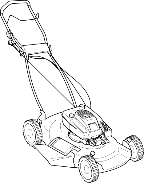 Lawn mower push mower clipart clipart kid