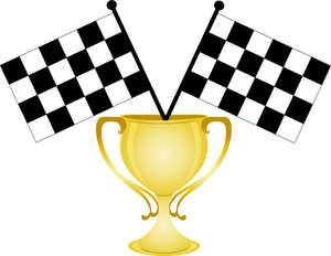 Race car car race trophy clipart
