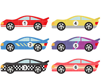 Race car clipart 2