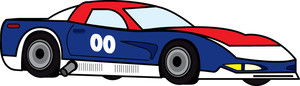 Race car clipart image clip art image of a cartoon race car