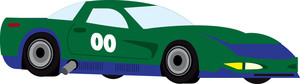 Race car clipart image clip art image of a green cartoon race car