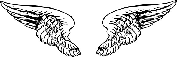 Angel wings clip art free vector in open office drawing svg svg 3