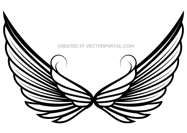 Angel wings free angel wing clip art free vector for free download 3