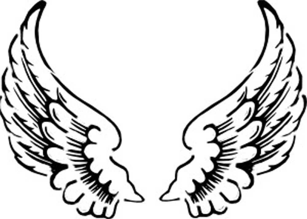 Angel wings free clipart images 2