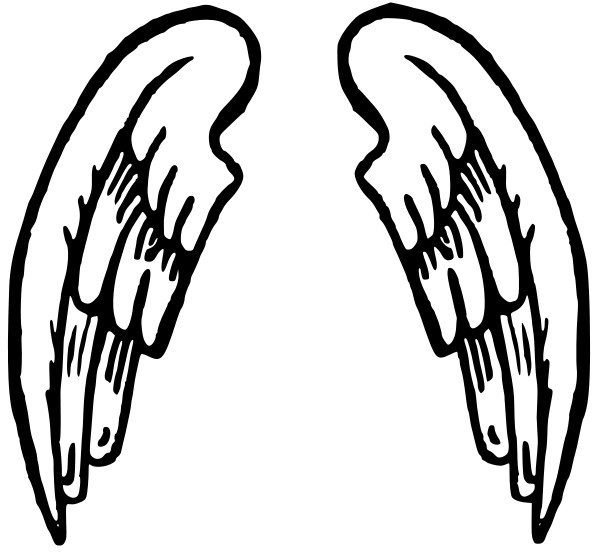 Angel wings halo and angel wing clipart clipart kid 2