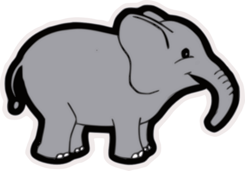 Baby elephant vector clip art public domain vectors