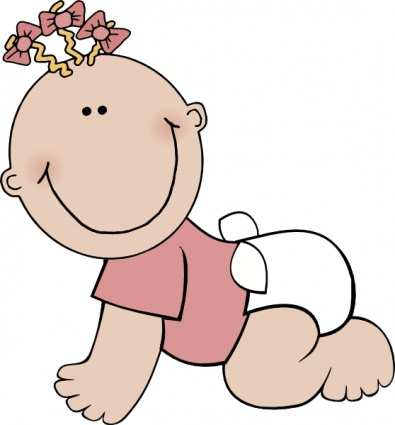 Baby in diaper clipart clipart 2