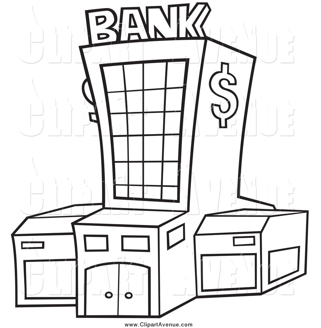 Bank clip art black and white free clipart images