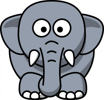 Cartoon elephant clip art free vector in open office drawing svg