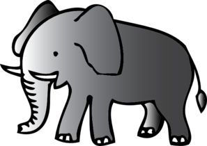 Elephant clip art at clker vector clip art