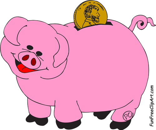 Free piggy bank clipart the cliparts 2