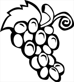 Grapes clipart black and white free clipart images 3