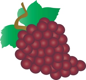 Grapes clipart image a bunch of red grapes