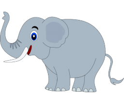 Happy elephant clipart
