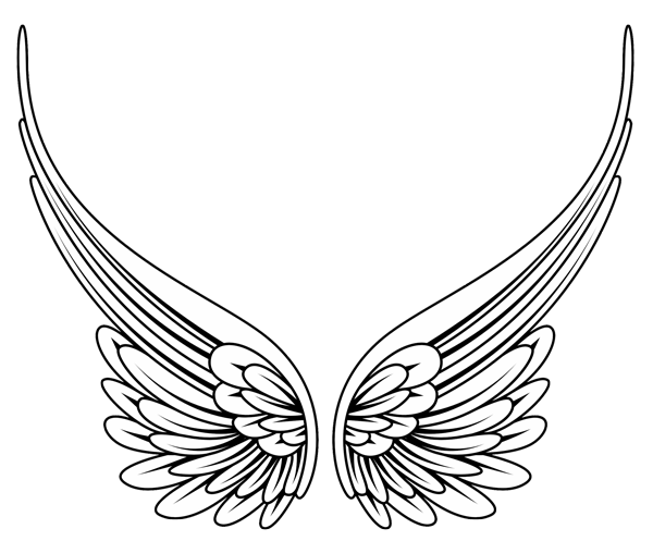Image of angel wing clipart 1 free clipart angel wings