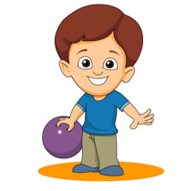 Kid free sports bowling clipart clip art pictures graphics