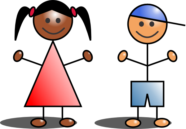 Kids stick figures clip art at clker vector clip art 2