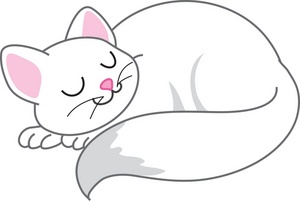 Kitten cat clipart image happy cat sleeping