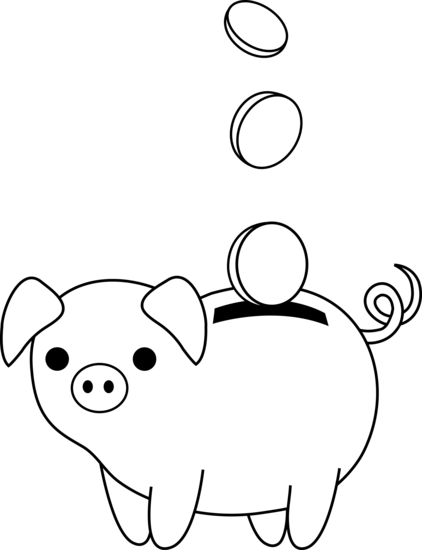 Piggy bank clip art 4