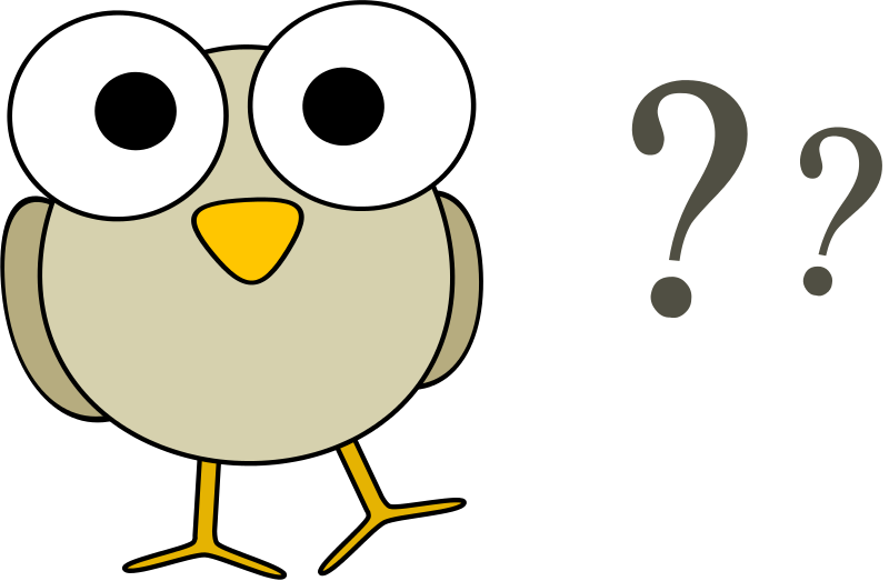 Questions free clipart grey bird with question marks animals anarres