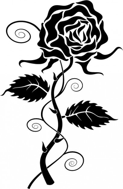Roses black rose clipart vector free download