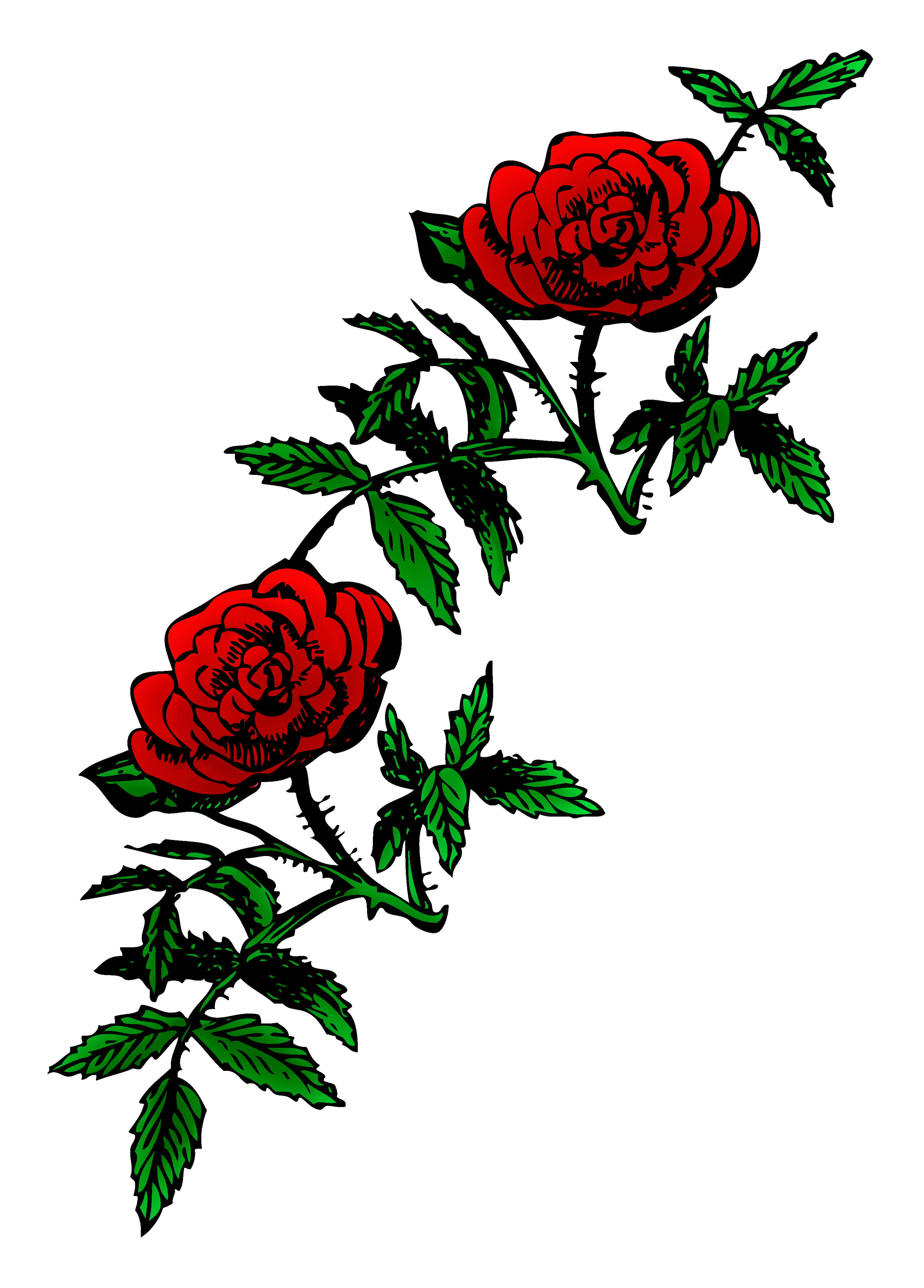 Roses public domain rose decoration free clip art