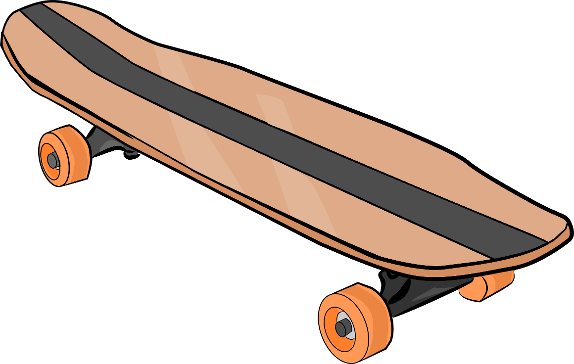 Skateboard clipart black and white free clipart 3