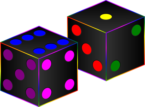 Black dice clipart clipart kid