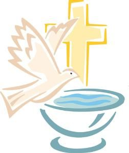 Catholic cross baptism clipart sunday school
