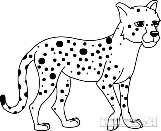 Cheetah outline clipart kid 4