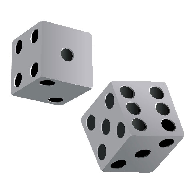 Dice clipart free vector freevectors