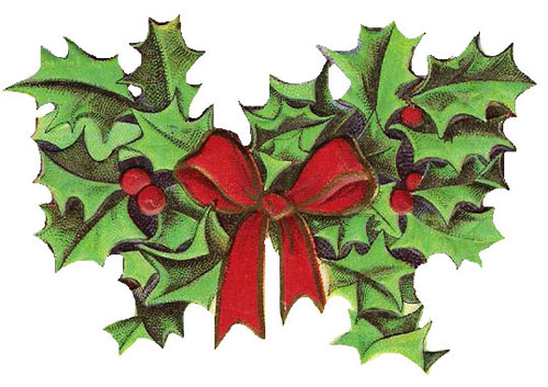 Free christmas clipart vintage holly 2