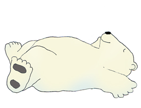 Funny polar bear clipart