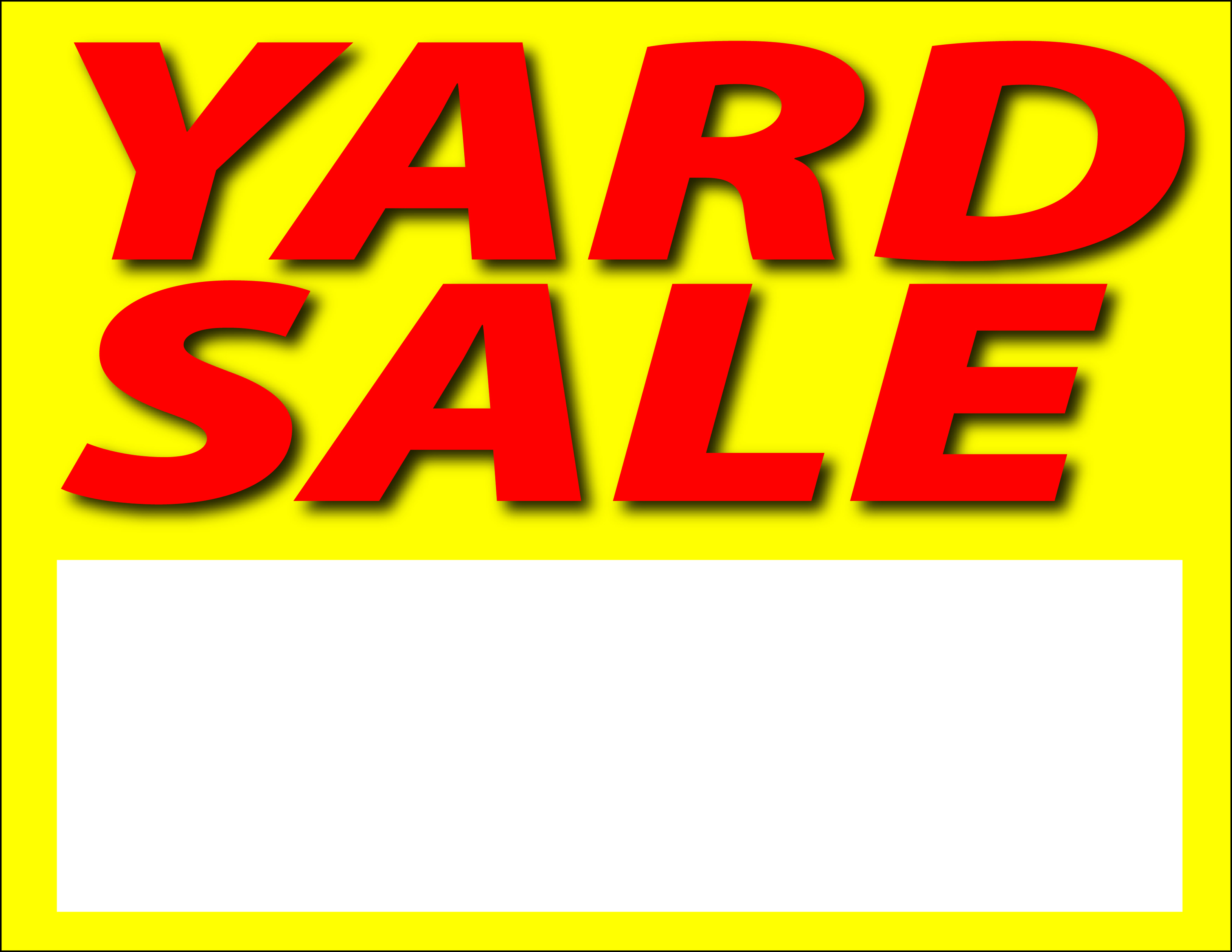 printable yard sale signs