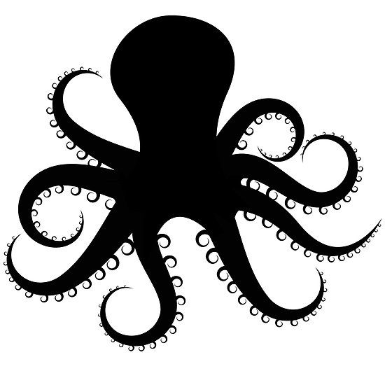 Octopus silhouette by mrrodriguez something to do clipart
